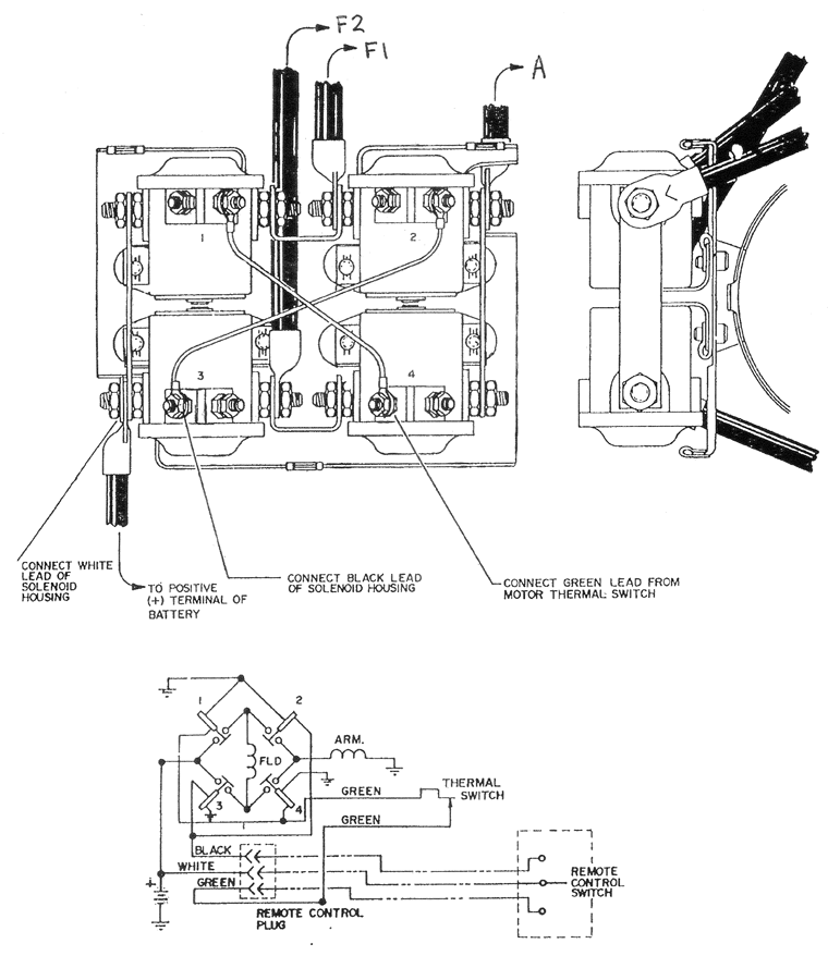 2 Post Winch Wiring Diagram | Wiring Diagram  Pole Solenoid Wiring Diagram Winch on