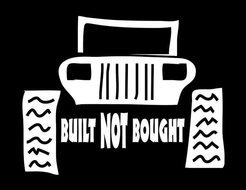 Built Not Bought Stickers Nc4x4