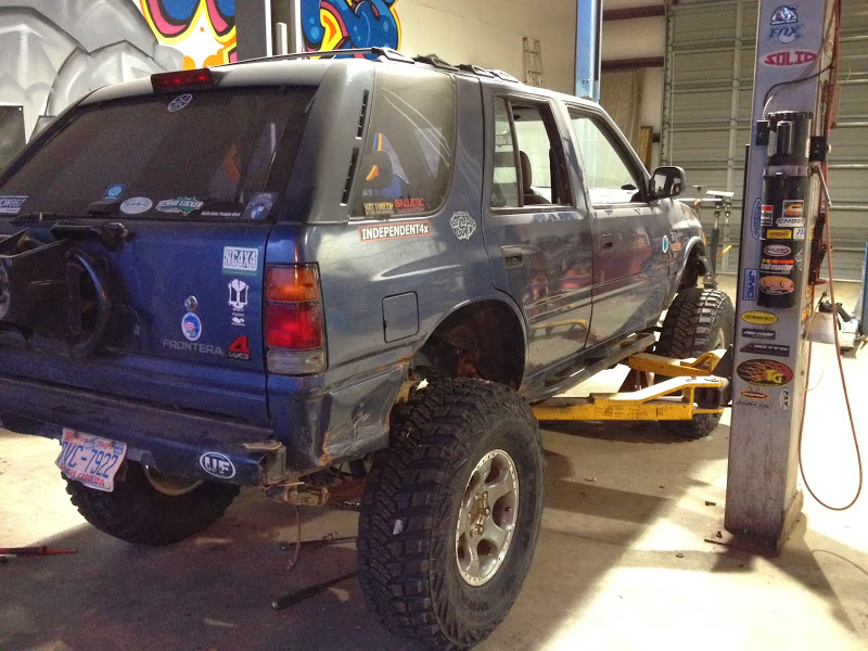 The Oddball build - Isuzu solid axle 3-link, Coilovers on