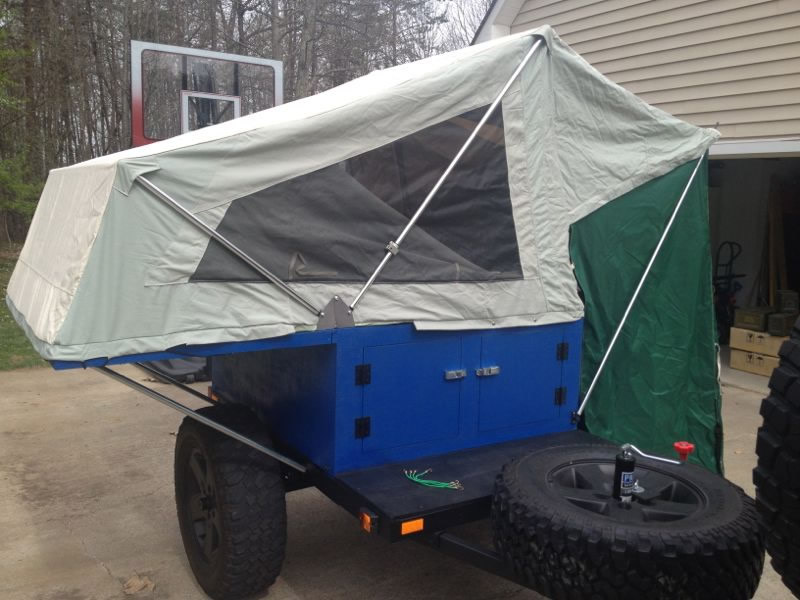 Offroad Diy Camping Tent Top Trailer For My Jeep Nc4x4
