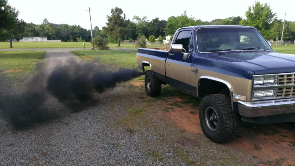 Lift Kits For Chevy Silverado My 83 Chevy with a 89 front conversion 4 in lift and a 4bt