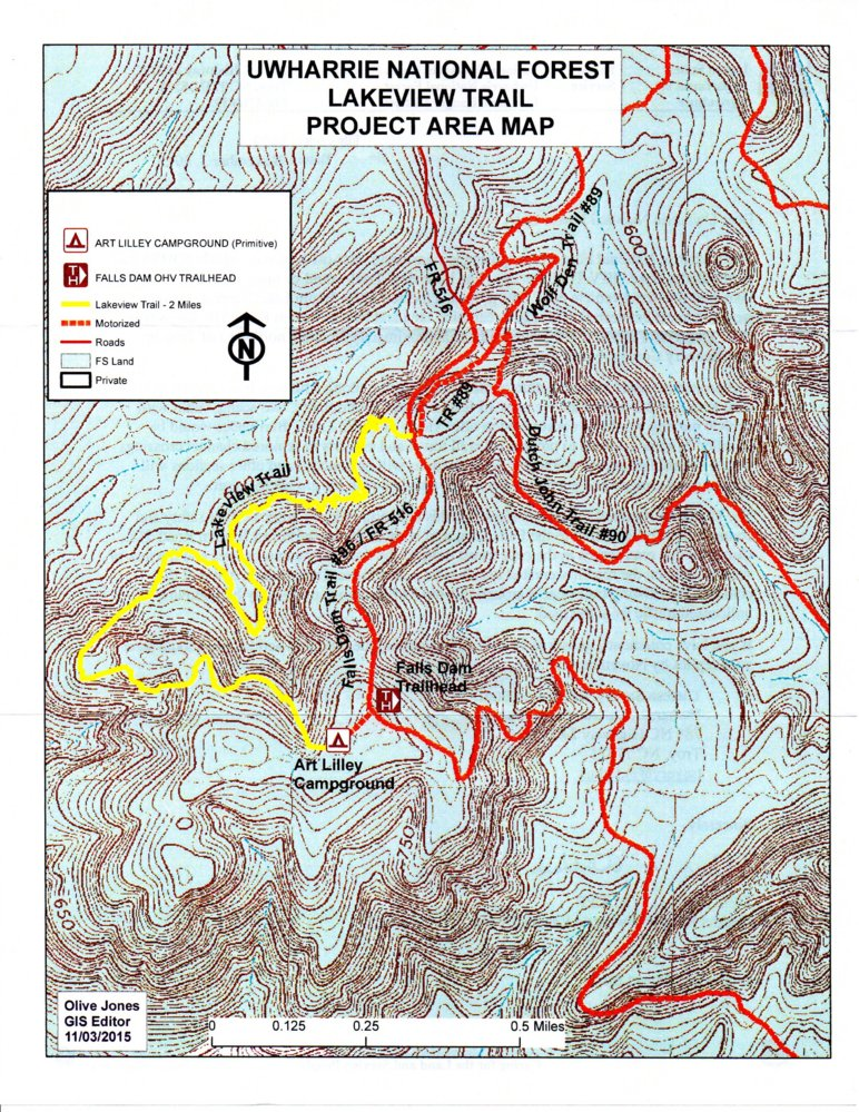 Uwharrie Ohv Lakeview Trail To Be Developed Nc4x4