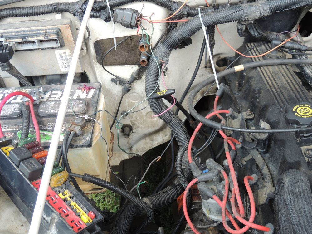 1997 TJ 2.5 to 4.0 swap...The rerebuild | NC4x4 Jeep Wiring Harness Swap on