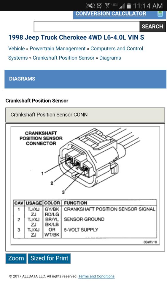 Jeep 40l Cps Wiring Diagram Nc4x4. Jeep. Jeep Tj Crankshaft Position Sensor Wiring Harness At Scoala.co